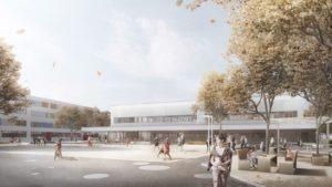 Sporthalle Niederwiesa | studio2 architekten | Schulhof